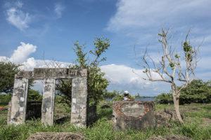 Esto es lo queda de la vieja casona en El Cardón. En la década de los 80 la casa se destruyó. Foto Oscar Navarrete.