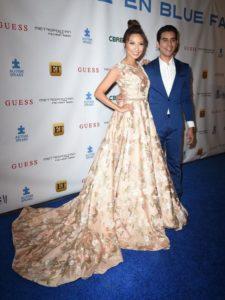 Jeannie Mai, celebridad de la moda, eligió vestidos Bendaña para dos galas en 2016. Foto Cortesía.