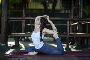 Felicia María Sandino,de 26 años, practica yoga desde los 20