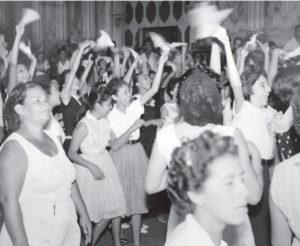 Esta es una fotografía de una marcha realizada en junio de 1959, un mes antes de la masacre.
