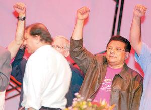 2006. Cerna en el Congreso donde se ratificó a Daniel Ortega como candidato presidencial por quinta vez.