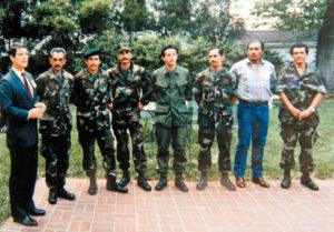 Durante la guerra de los años ochenta con otros jefes de la Contrarrevolución.
