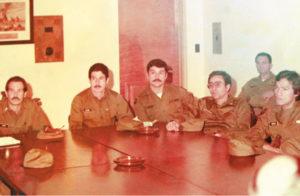 Octubre de 1979. En Estados Unidos, acompañando a Joaquín Cuadra, Javier Carrión, Roberto Calderón, Alvaro Ferrey, Javier Pichardo, entre otros miembros del EPS. Mendoza era agregado militar en EE.UU.