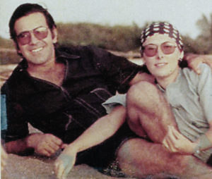Salazar junto a su esposa Lucía Cardenal.