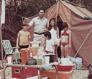 Uno de los mayores placeres de Salazar era acampar con su familia.