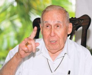 Monseñor Federico Argüello, sobrino del ex Presidente.