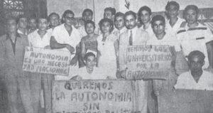 Lucha por la autonomía. Los universitarios llegaron desde León para exigir a la Asamblea la aprobación de la autonomía. En 1966, esta fue ratificada e incluida en la Constitución Política