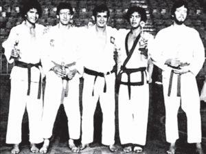 Manuel Cabrera, Javier César Reyes, el profesor Ricardo Hoozky, Salvador Cabrera y Carlos Cuadra Chaclar, todos campeones nacionales de su categoría en esta foto del 19 de agosto de 1978.
