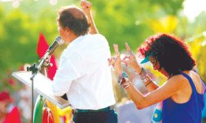 Daniel Ortega y Rosario Murillo.