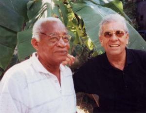 Con el compositor Ricardo Ruiz, en una de sus visitas a Cuba.