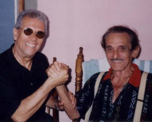 Con Laito, famoso cantante cubano.
