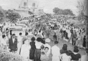 El funeral de Anastasio Somoza García, al salir del Palacio Presidencial.
