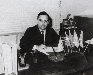 Carlos Tünnermann Bernheim, como secretario general del Consejo Superior Universitario Centroamericano, a principios de los sesenta.