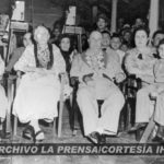 Doña Julia García junto a su hijo Anastasio Somoza García y otros familiares.