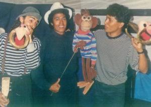 Con Harold y Gerald, al centro Roberto, cuando todavía era la compañía Zig-zag.