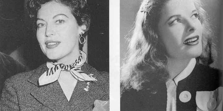 Ava Gadner y Katherine Herpburn