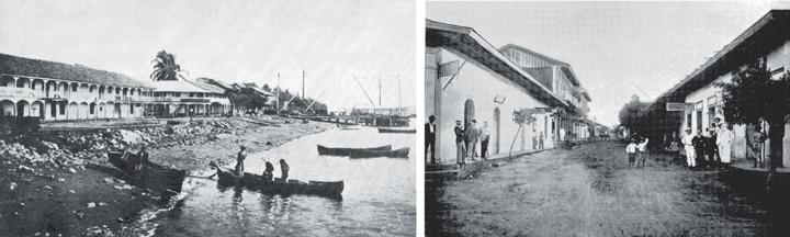 Una foto de Schmidt muestra el puerto de Corinto a principios del siglo XX