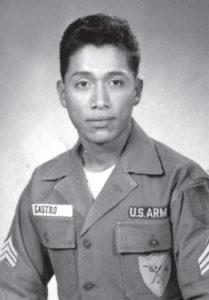 """Así lucía Armando Castro cuando era soldado de las Fuerzas Armadas de Estados Unidos. """"Era un soldado empedernido"""", dice."""