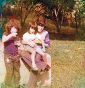 Con su hermano Jorge y una sobrina