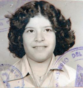 La foto del pasaporte provisional.
