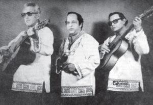 Una foto del recuerdo. Los Bisturices Armónicos en los años 70. De izquierda a derecha: César Zepeda, César Ramírez y Wilfredo Álvarez.