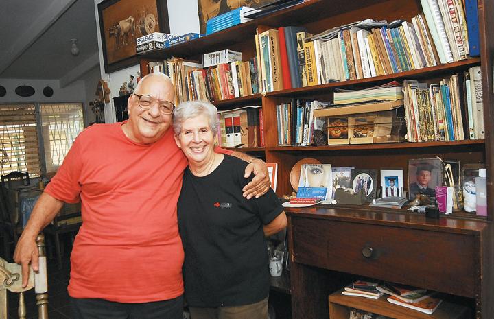 César Ramírez y su esposa Jean Morales