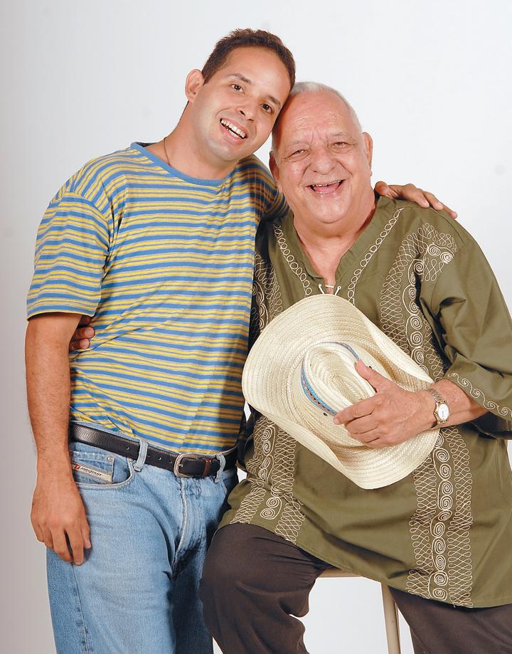 César Ramírez y su hijo Luis Enrique