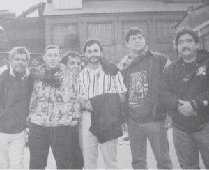 Durante una gira con El Guadalupano por Noruega en 1999.