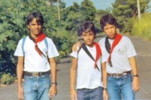 Con compañeros del Colegio Centro América.