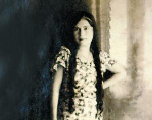 La abuela del pintor, Josefa Rocha. En esta imagen de joven. Siempre fue muy conocida en el barrio Bóer.