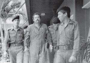 Semanas despues de ser derribado y capturado, el mayor Roberto Amador fue enjuiciado y condenado a 30 años de prisión en Managua.