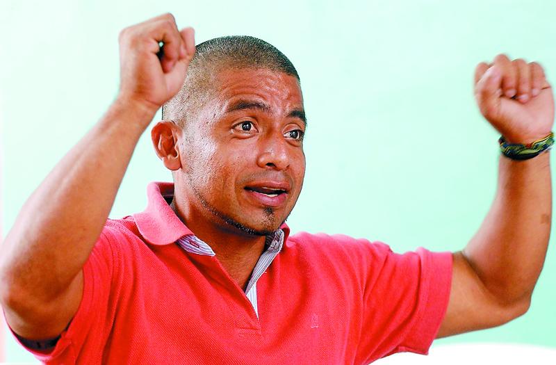 Orlando Vásquez, ahora trabaja en una granja camaronera  en Chinandega