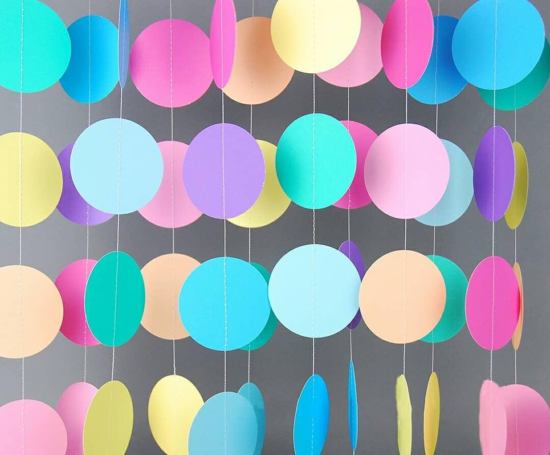 Cortinas de papel para fiestas