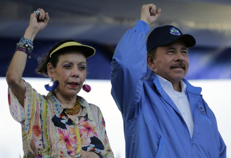 NICARAGUA-UNREST-ORTEGA-MURILLO